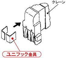 本宏のクレーンゴンドラはクレーンブームの先端が丸くても取り付けできます