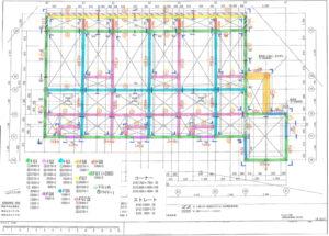 住宅用の鉄筋配置図