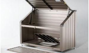 本宏製作所のゴミステーションのGS-180WTのゴミ箱は完成品でお届けです